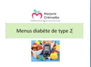 MENU DIABETE DE TYPE 2